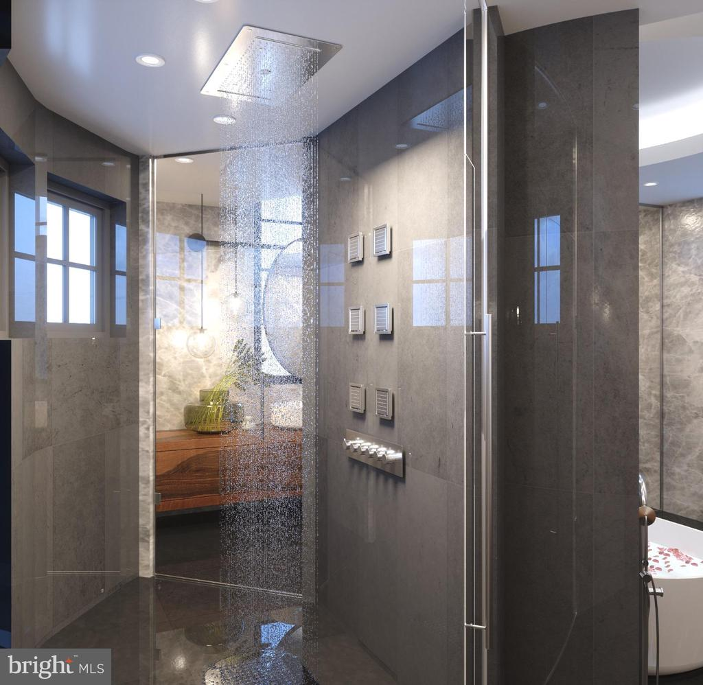 Master Bath Rain Shower Rendering - 1171 CHAIN BRIDGE RD, MCLEAN