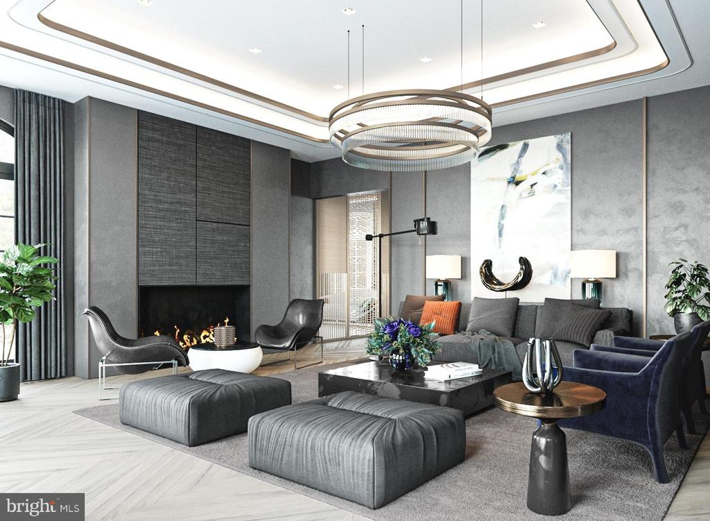 Living Room Rendering - 1171 CHAIN BRIDGE RD, MCLEAN