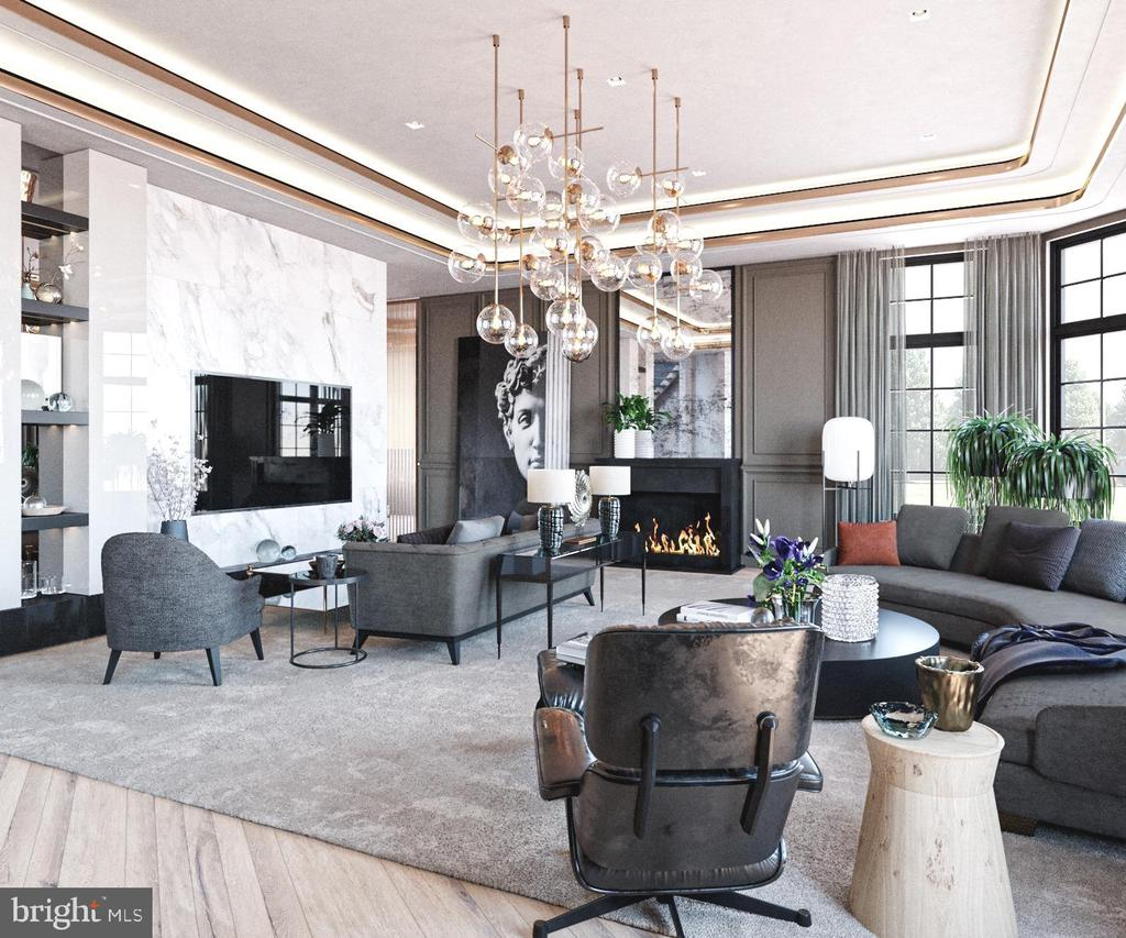 Family Room Rendering - 1171 CHAIN BRIDGE RD, MCLEAN