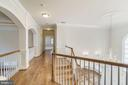 Upper Hallway - Open to Foyer & Family Room - 7310 BEVERLY MANOR DR, ANNANDALE