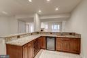 Wet Bar with Granite - 7310 BEVERLY MANOR DR, ANNANDALE