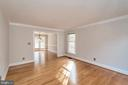 Gleaming hardwood in living room - 11801 DUCK CIR, SPOTSYLVANIA