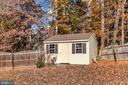 Large storage shed - 11801 DUCK CIR, SPOTSYLVANIA