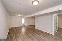 Finished basement with full bath - 11801 DUCK CIR, SPOTSYLVANIA