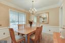 Formal Dining Room, Crown & Chair Rail Molding - 25565 UPPER CLUBHOUSE DR, CHANTILLY