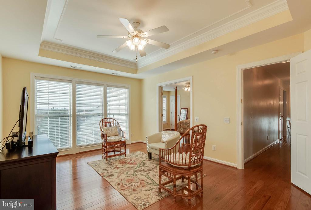 Sitting Room with Tray Ceiling - 25565 UPPER CLUBHOUSE DR, CHANTILLY