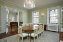 Formal dining room -  High ceilings, crown molding - 1719 19TH ST NW, WASHINGTON
