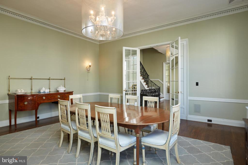 Formal dining room - Chair railing, hardwood floor - 1719 19TH ST NW, WASHINGTON