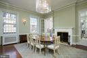 Formal dining room w/mirrored doors & fireplace - 1719 19TH ST NW, WASHINGTON