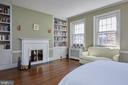 Master bedroom w/ fireplace and built-ins - 1719 19TH ST NW, WASHINGTON
