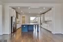 Large square kitchen island with 2-sided seating - 23182 HAMPTON OAK TER, ASHBURN