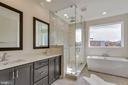 Owner's bath- double vanity, freestanding bath tub - 23182 HAMPTON OAK TER, ASHBURN