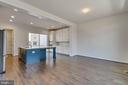 Spacious and open kitchen/dining area - 23182 HAMPTON OAK TER, ASHBURN