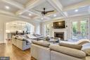 Family Room with Coffered Ceilings - 1070 VISTA DR, MCLEAN