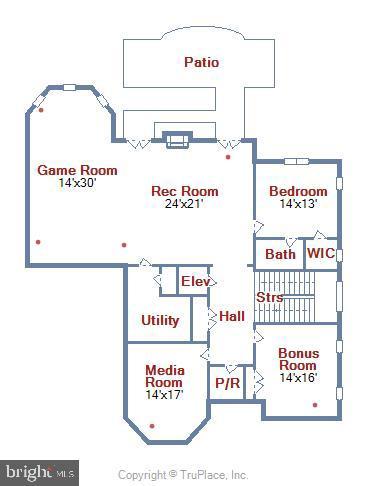 Lower Level Floor plan - 1070 VISTA DR, MCLEAN