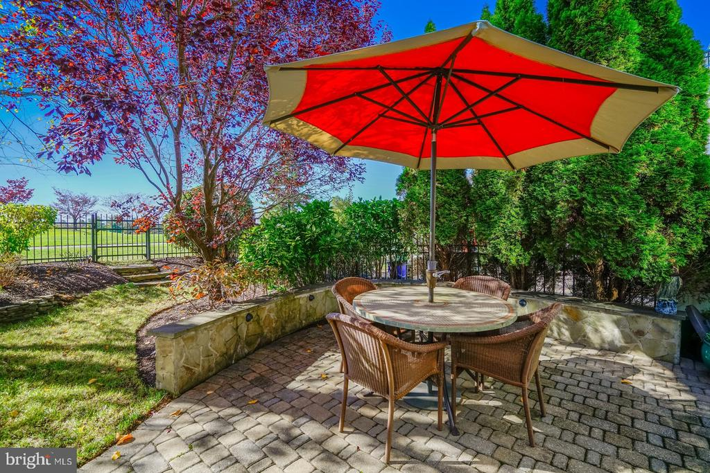 The perfectly private summertime patio - 18375 FAIRWAY OAKS SQ, LEESBURG