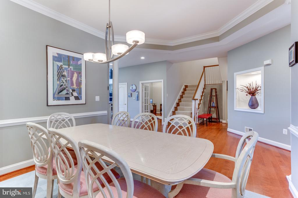 The open view from the dining room - 18375 FAIRWAY OAKS SQ, LEESBURG