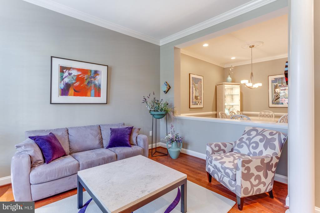 The dining and living room are visually connected - 18375 FAIRWAY OAKS SQ, LEESBURG