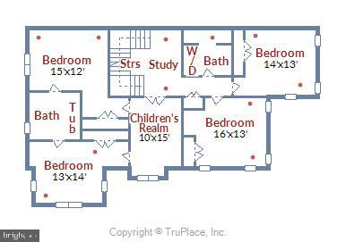 Upper Level Floor Plan - 916 MONROE ST, HERNDON