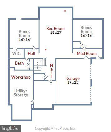 Lower Level Floorplan - 916 MONROE ST, HERNDON