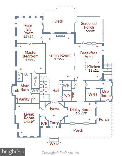 Main Level Floor Plan - 916 MONROE ST, HERNDON