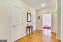 Front Hallway has a 2nd Half Bath & closet - 916 MONROE ST, HERNDON