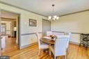 Spacious Dining Room w/ chair railings - 669 APPLE PIE RIDGE RD, WINCHESTER