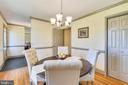 Spacious Dining Room w/ new light fixture - 669 APPLE PIE RIDGE RD, WINCHESTER