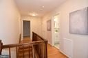 Upstairs hall connects 4 bedrooms in corners. - 535 N LONGFELLOW ST, ARLINGTON
