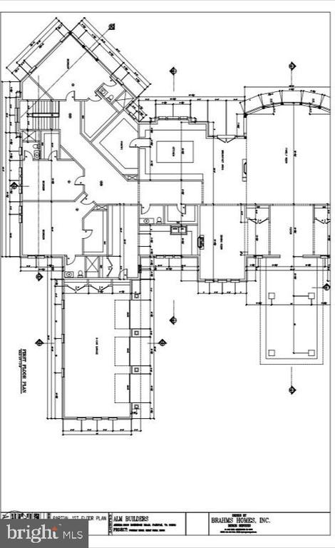 Floor Plan - Left Wing of Main Level - 9100 POTOMAC RIDGE RD, GREAT FALLS