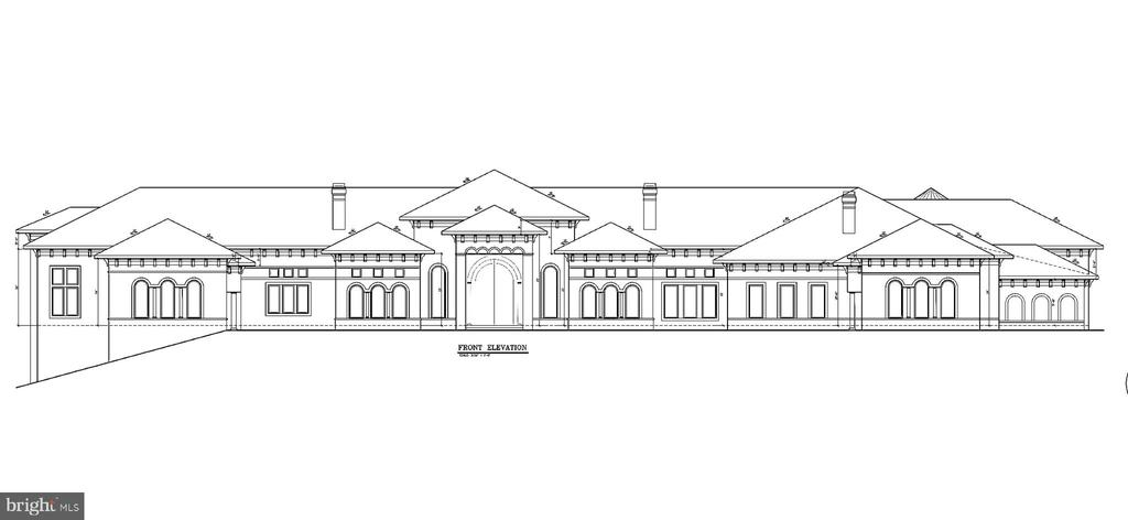 Front Elevation Drawing - 9100 POTOMAC RIDGE RD, GREAT FALLS
