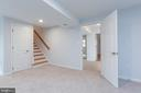 Basement family room - 8928 MAURICE LN, ANNANDALE