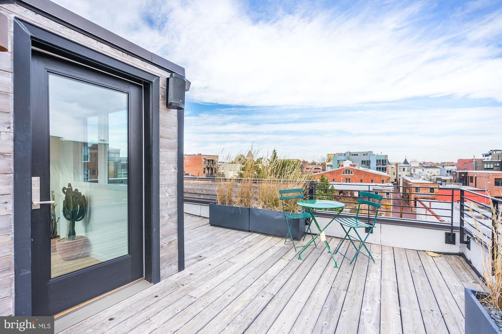 Roof deck with 360 degree views - 925 M ST NW #2, WASHINGTON