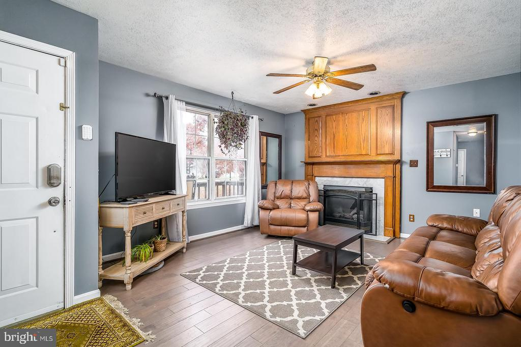 Living room with gas fireplace - 35486 WILDERNESS SHORES WAY, LOCUST GROVE