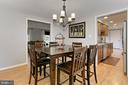 Separate Dining Room with chandelier - 9924 MANET RD, BURKE