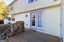 Deck directly off kitchen with French Doors - 9924 MANET RD, BURKE