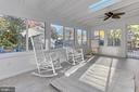 Sun Room addition with new flooring - 9924 MANET RD, BURKE