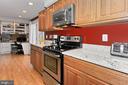 Renovated kitchen--newer appliances, granite C'top - 9924 MANET RD, BURKE