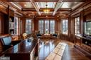 Elegant library/office with hand crafted woodwork. - 11643 BLUE RIDGE LN, GREAT FALLS