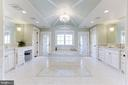 Opulent master bath with custom tile throughout. - 11643 BLUE RIDGE LN, GREAT FALLS
