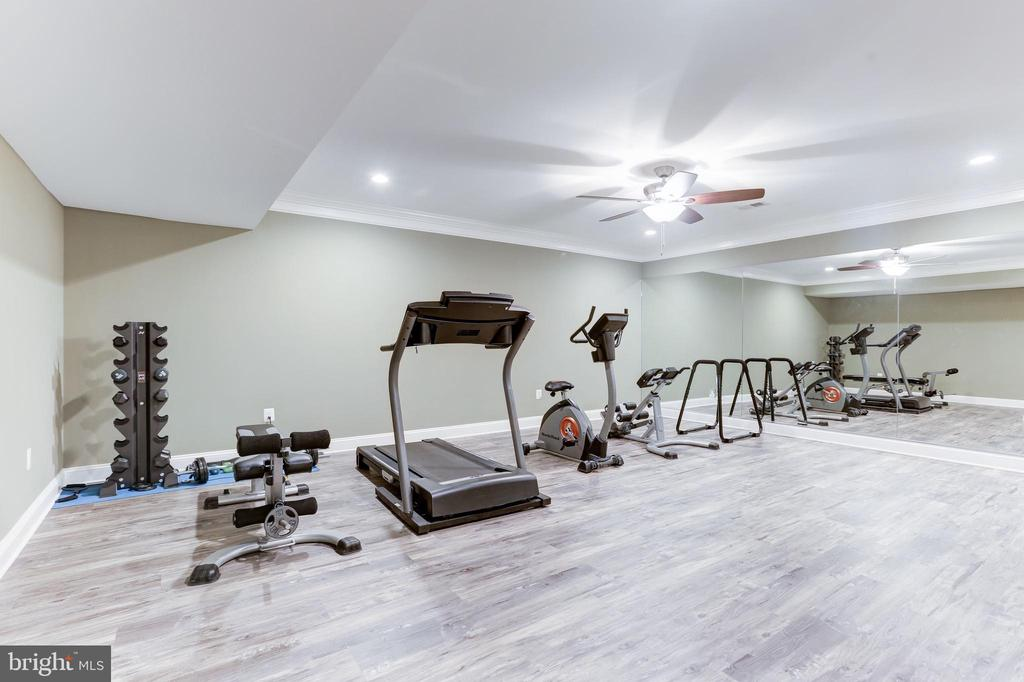 Oversized gym and exercise room. - 11643 BLUE RIDGE LN, GREAT FALLS