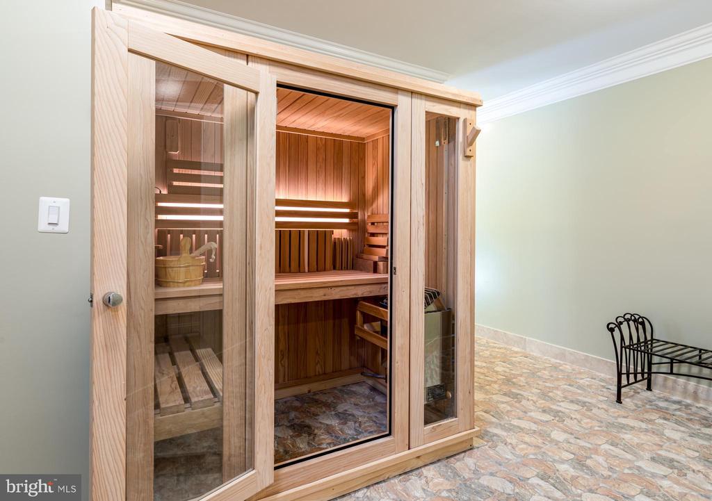 Upscale sauna. - 11643 BLUE RIDGE LN, GREAT FALLS