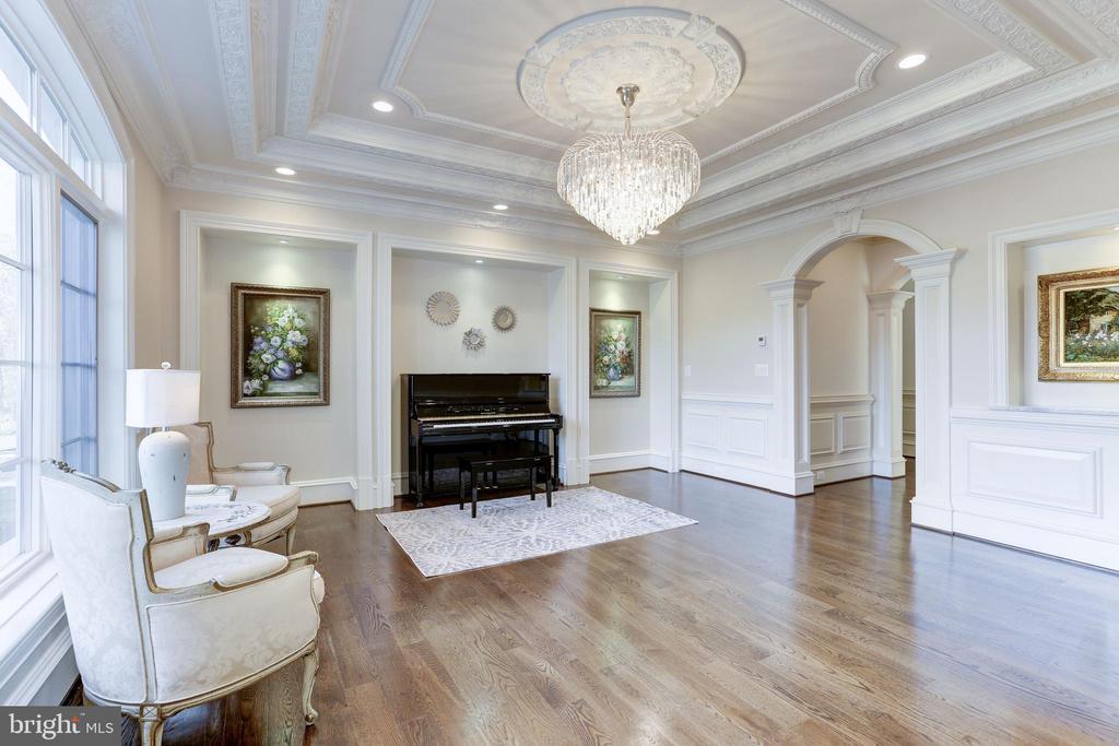 Elegant living room. - 11643 BLUE RIDGE LN, GREAT FALLS