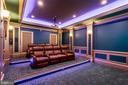 Main level theatre. - 11643 BLUE RIDGE LN, GREAT FALLS