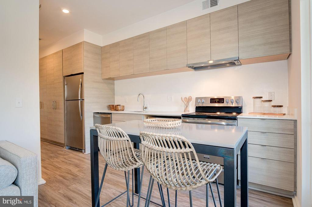 Custom Integrated Kitchen with European Cabinetry - 1550 11TH ST NW #303, WASHINGTON