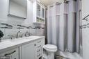 Upper level main bathroom with jetted tub. - 6017 ELMENDORF DR, SUITLAND