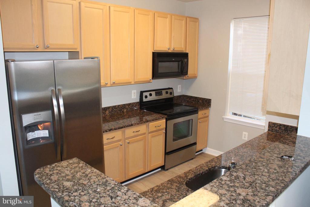 Kitchen has granite tops - 42496 MAYFLOWER TER #101, BRAMBLETON