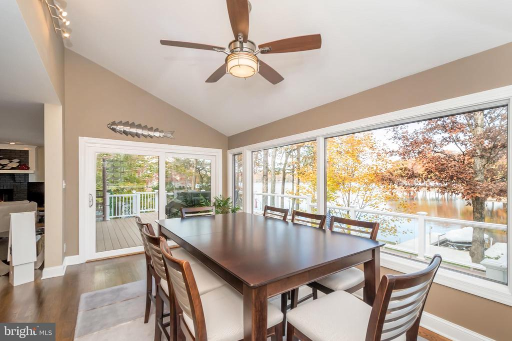 Dining area with deck access - 416 WILDERNESS DR, LOCUST GROVE