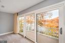 Balcony off of master bedroom boasts great views! - 416 WILDERNESS DR, LOCUST GROVE