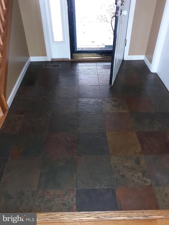 Slate tile foyer with large coat closet. - 444 LIBERTY BLVD, LOCUST GROVE